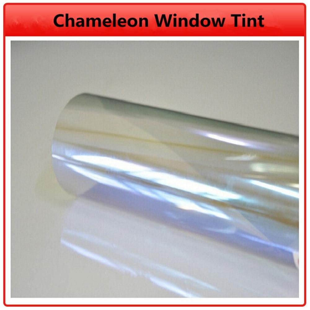 SUNICE VLT 80% Car Window Tint Chameleon Glass Tinting Auto Car House Decors Self-adhesive Nano Ceramic Film Car Tint Solar Film