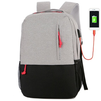 Data Cable Backpack USB Charging Backpack Laptop Computer Bag