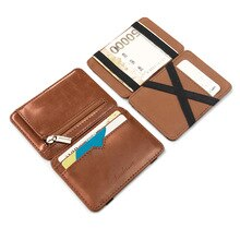 Fashion Man Small Pu Leather Wallet Coin Purse Men's Mini Purse Money Bag Credit Card Holder Clip