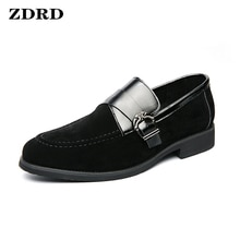 Luxury Brand Men's Loafers Suede Shoes Slip On Penny Loafer Black Casual Shoes Wedding Office Summer