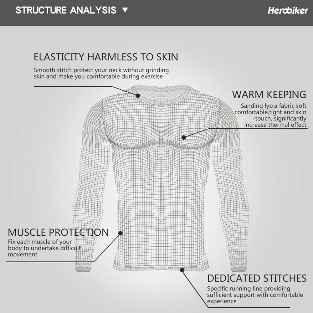 Fleece Lined Thermal Underwear Set Winter Elastic Motorcycle Skiing Warm Long Johns Shirts & Tops Bottom Suit For Men And Women enlarge
