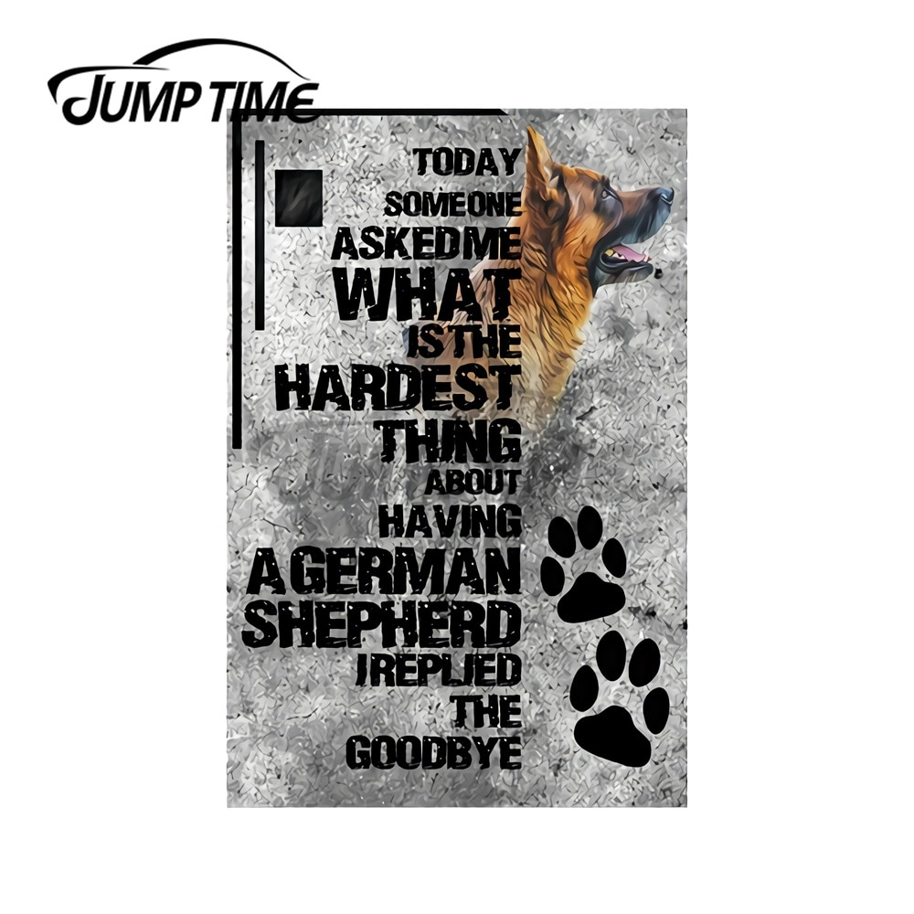 JumpTime 13 x 7.6cm For What Is The Hardest Thing About Having A Gearman Shepherd Dog Laptop Car Stickers Decal Laptop Graphics