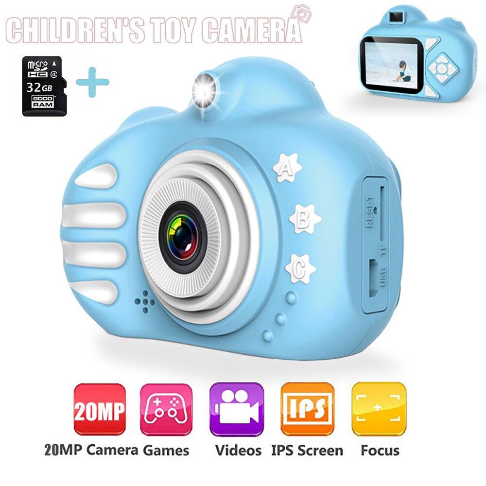 New 2.4 inch 20MP Kids Camera HD Mini Digital Camera Toy Camera Cartoon Cute Flash  Children Toys For Kids Birthday Gift