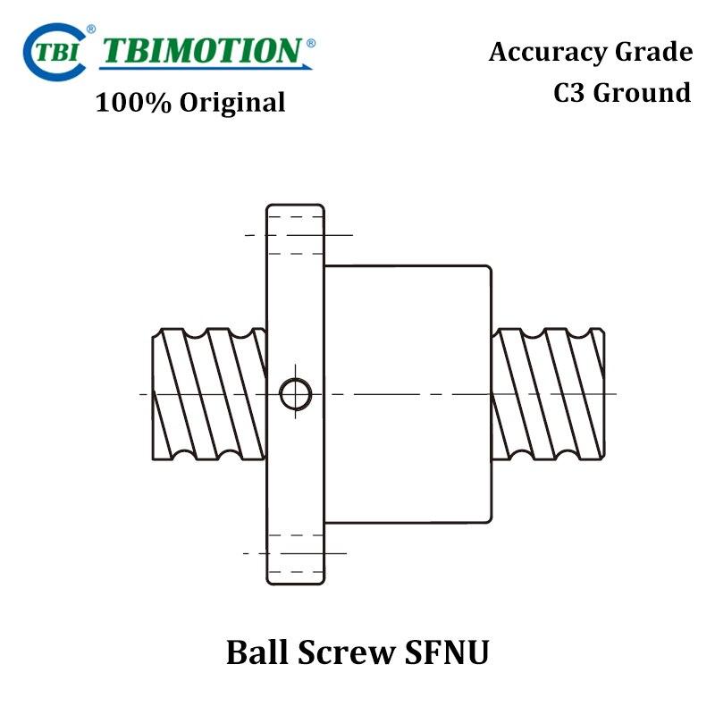 TBI Motion C3 Ground Ball Screw SFNUL1605 SFNUR2005 High Precision Customization Link