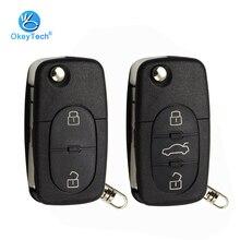 OkeyTech 2/3 Кнопка флип складной дистанционный Автомобильный ключ оболочки чехол Fob CR1620 держатель батареи для Audi TT A2 A4 A6 A8 Quattro RS4