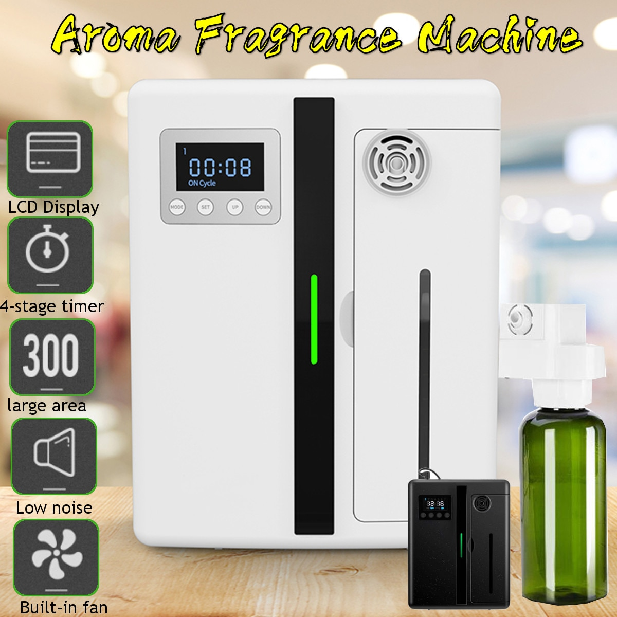Large Area Oil Aroma Diffuser Fragrance Machine 160ml Timer Function Scent Pure Essential Oil Diffuser for Home Office Hotel недорого