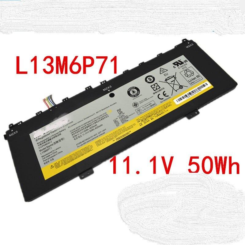 New original 11.1V 50Wh 4520mAh L13M6P71 Laptop Battery For Lenovo IdeaPad Yoga 2 13 Series Tablet L