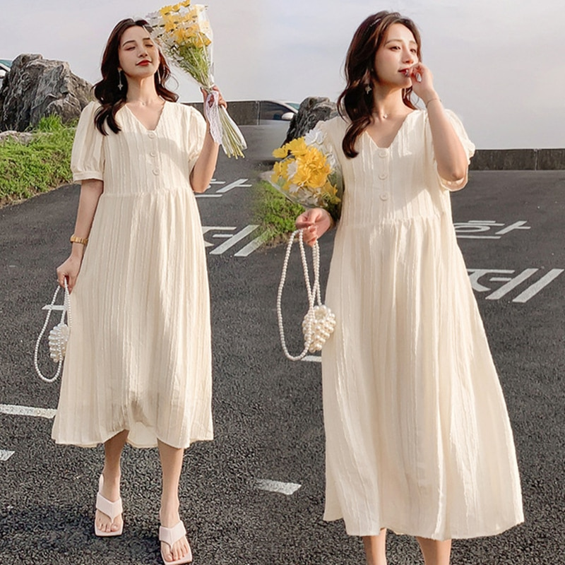 Maternity dresses Summer Chiffon dress woman Casual women's dresses Clothes for pregnant women maternity clothes