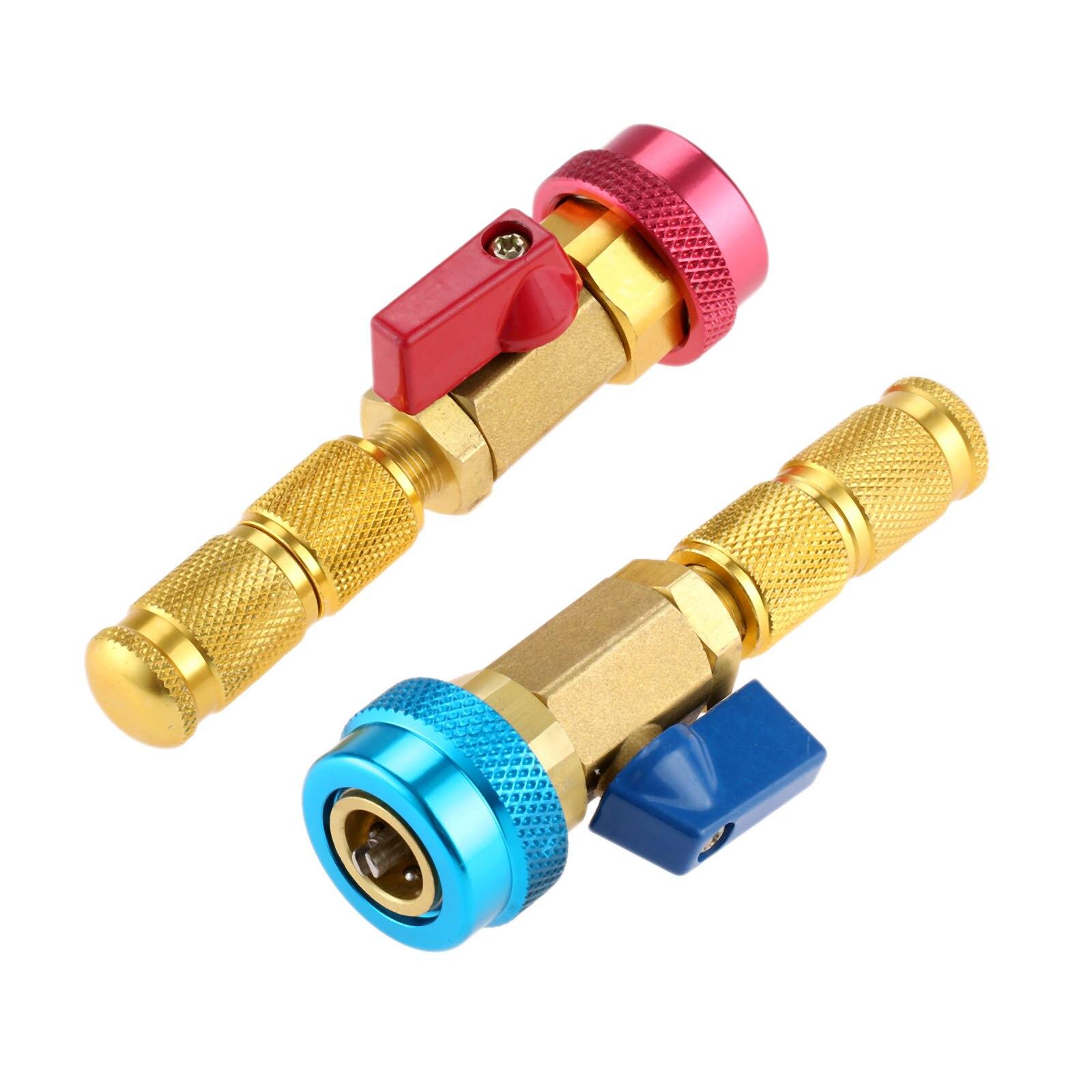 Herramientas de extracción de núcleo de válvula de aire acondicionado R134a R12, kits de adaptadores de freón refrigerante de alta/Baja Presión