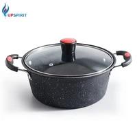 upsptirit iron soup pot non stick cooking pot milk pot saucepan soup pot for gas induction cookers kitchen cookware