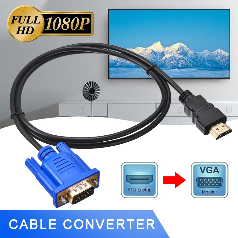 Para HDTV Projector 1pc 1m macho a macho adaptador de vídeo de...