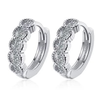 fashion gold silver color hoop earrings for women luxury dazzling cz crystal circle round earring wedding party jewelry gift