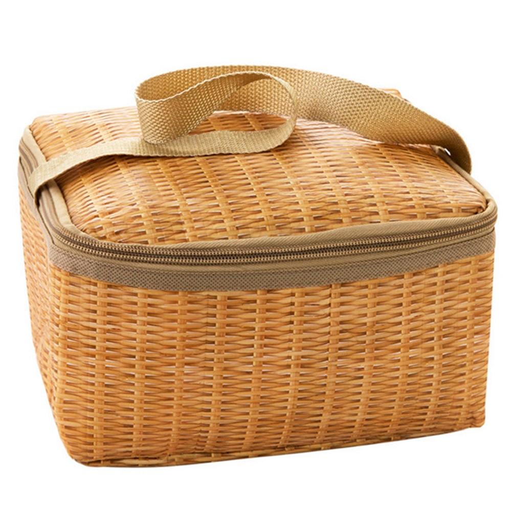 Bolsa de comida de lona aislada portátil bolsas de Picnic de comida térmica para hombres y mujeres