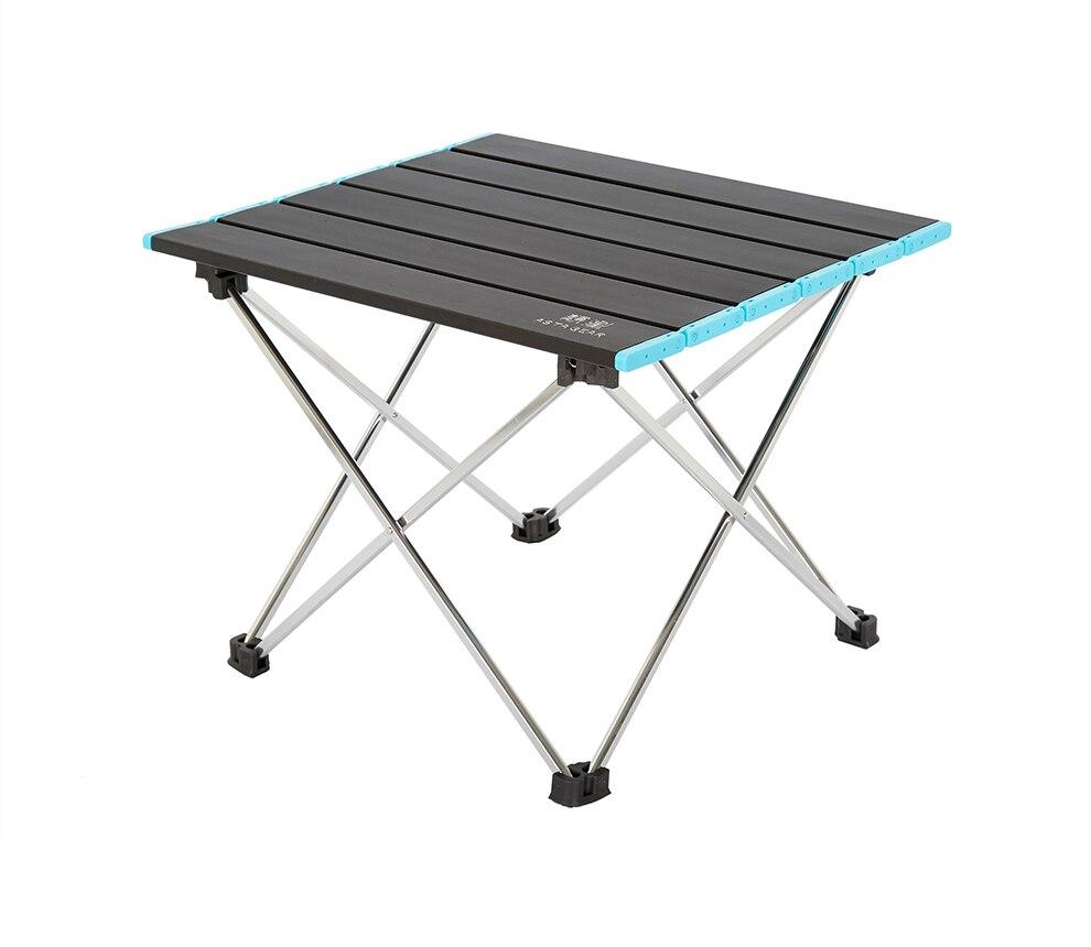 Mesa de Picnic plegable de aleación de aluminio para exteriores de ASTA GEAR, mesa de viaje portátil para camping, barbacoa, equipo de camping negro