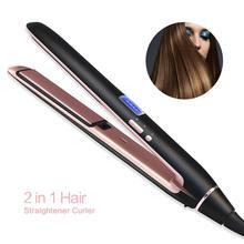 Hair Straightener Straightening Iron prancha de cabelo 2019 Curling Irons Styling Tools Curler Professional Ionic Flat Iron