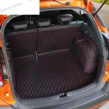 Lsrtw2017 cuir coffre de voiture tapis Cargo Liner pour Nissan coups de pied 2015 2016 2017 2018 2019 2020 tapis intérieur accessoires auto