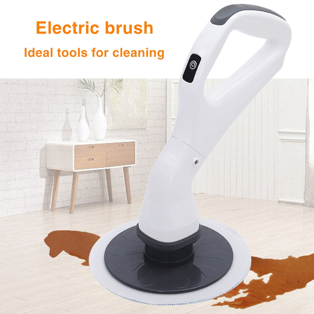 Electric Cleaning Brush Rechargeable Scrubber With Detachable Heads Multifunction Bathroom Kitchen Tools