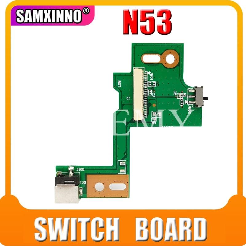 Para For Asus DC POWER JACK N53SV N53 N53S N53J N53TA N53TK N53SM N53DA N53SL N53SN N53JG N53JN N53JF N53JQ Placa de interruptor