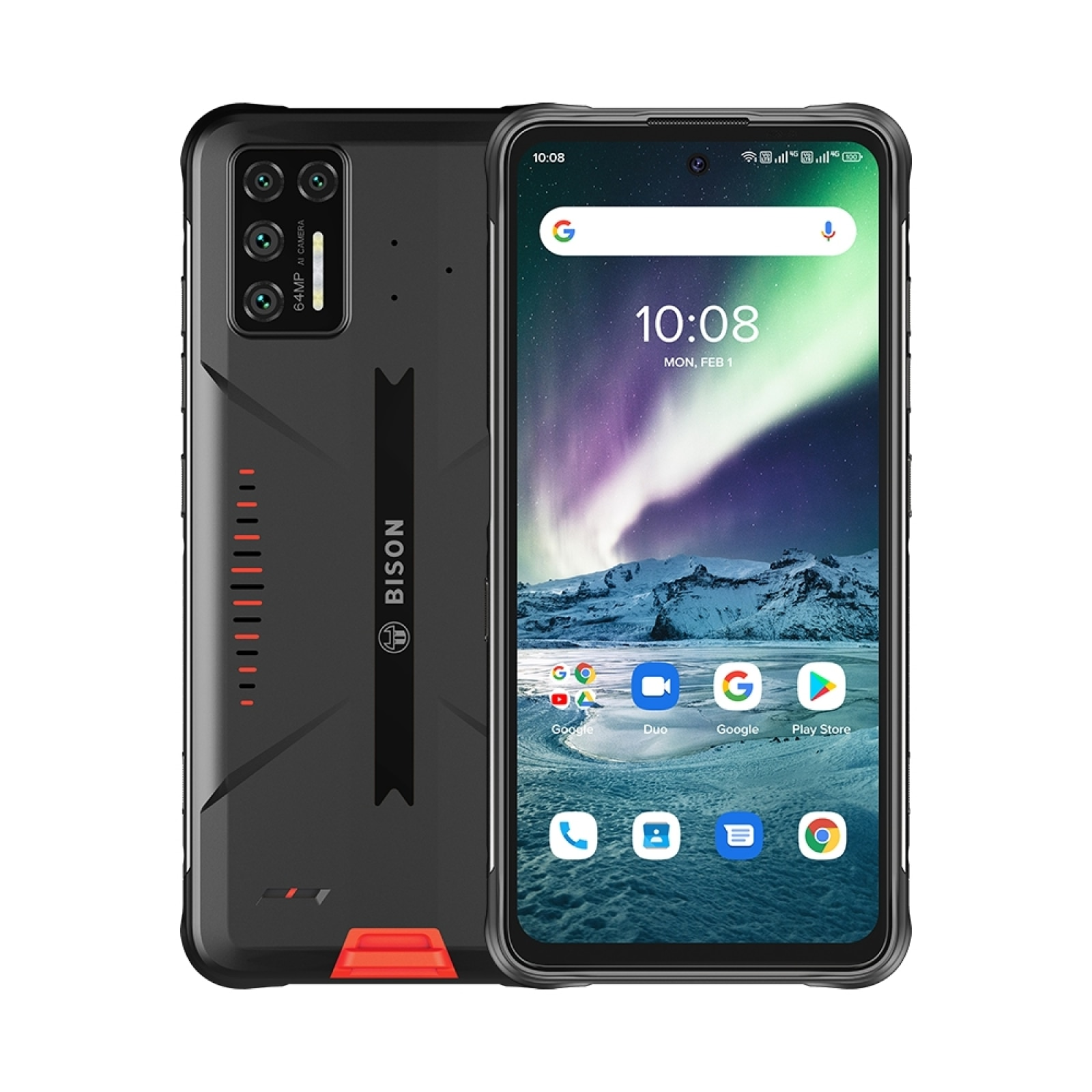 Перейти на Алиэкспресс и купить Смартфон UMIDIGI BISON GT защищенный, IP68/IP69K, камера 64 мп, FHD дисплей 6,67 дюйма, Android 10, Восьмиядерный Helio G95, 8 ГБ + 128 Гб, NFC
