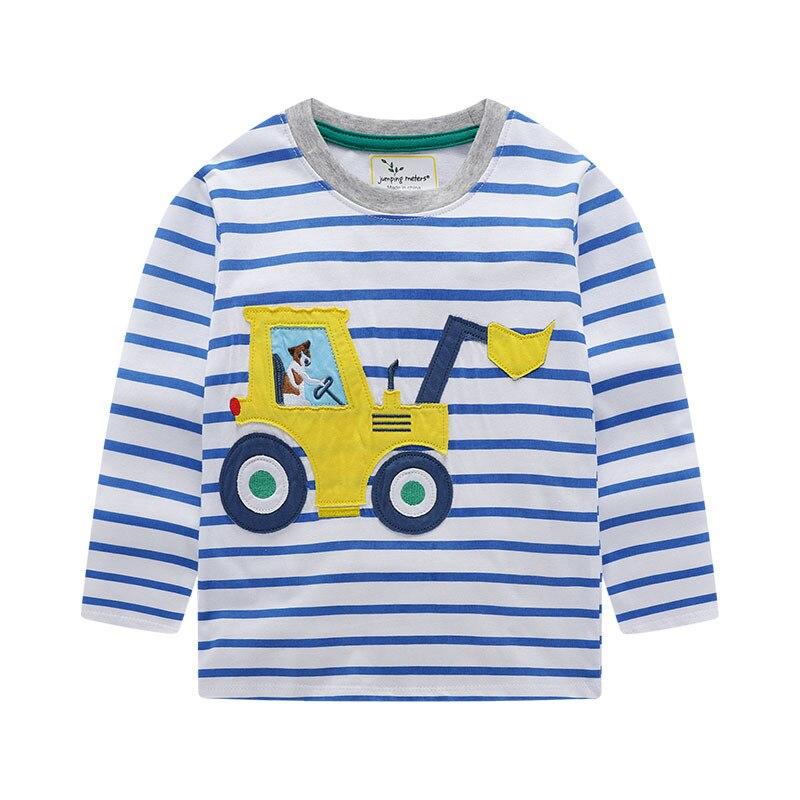 Camisetas de algodón de manga larga de rayas lindas para niños y niñas para otoño primavera nueva camiseta