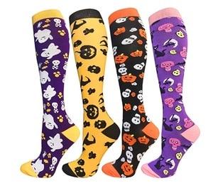 men women stocking socks Halloween festival sports muscle socks soft comfortable leg protection pressure compressing funny socks