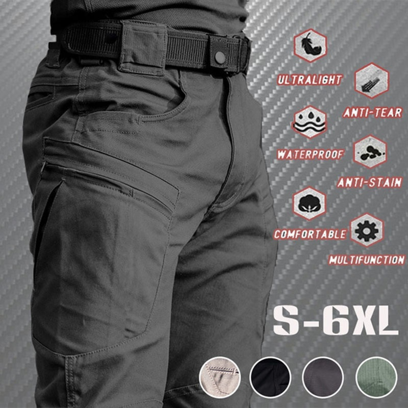 2021 Men's Lightweight Tactical Pants Breathable Summer Casual Army Military Long Trousers Male Waterproof Quick Dry Cargo Pants