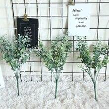 Planta Artificial nórdica INS Eucalyptus dinero hoja arreglo Faux follaje hogar decoración boda planta pared flor falsa