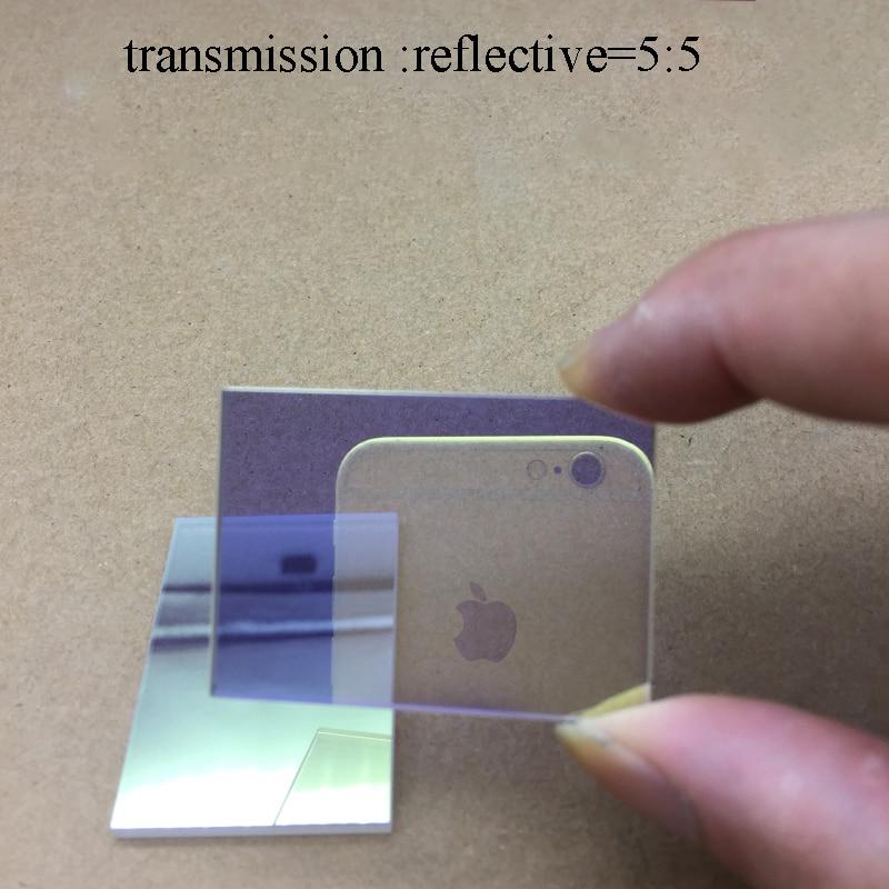 Optical Glass Semi-reverse Semi-transmission Prism Spectre 50/50 Visible Light Spectre 420-680nm beam splitter prism