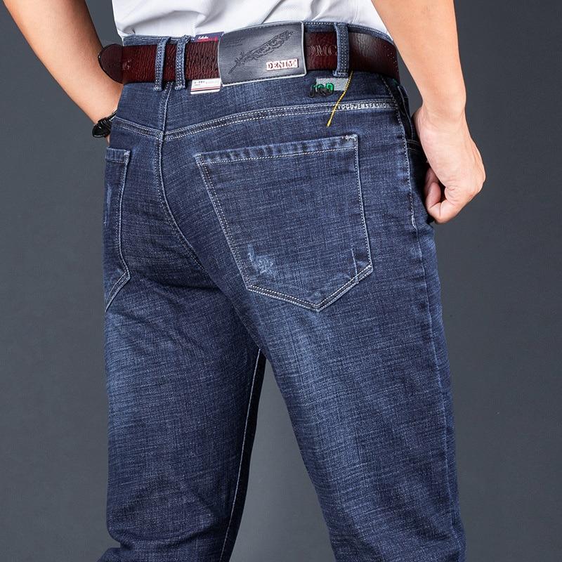 Новинка Осень 2020 мужские джинсы облегающие красивые деловые повседневные эластичные модные Универсальные мужские брюки