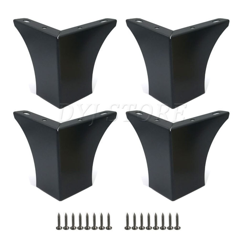 1/2/4 Pack Hollow Out Modern Furniture Sofa Legs Modern Style Furniture Cabinet Table Legs, With Mounting Screws(2.95/3.93 Inch)