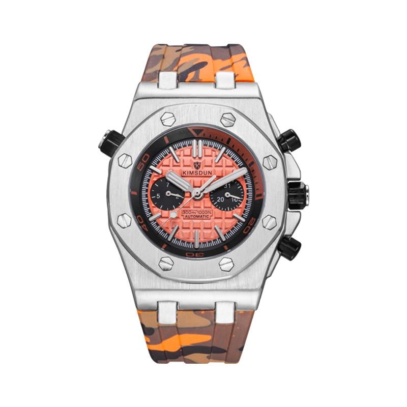 AliExpress - Explosive Watch Men's Fashion Two-eye Silicone Waterproof Automatic Mechanical Watch Sports and Leisure All-match Watch WA86