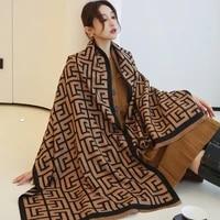 brand designer cashmere scarf high quality foulard bandana long lrage shawls wrpas winter blanket pashmina bandana 2021 new
