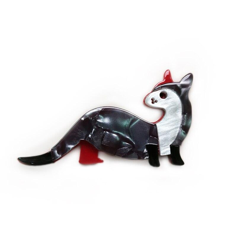 Novo acrílico canguru broche e pinos para senhoras resina gatos animal broche para cachecol emblemas moda feminina acessórios presentes
