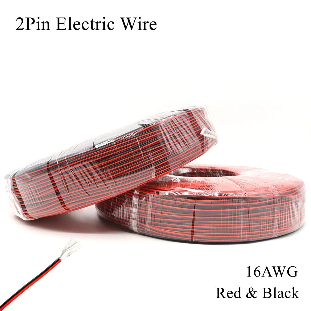 Cable rojo negro de 16AWG Cable eléctrico de cobre estañado de 2...