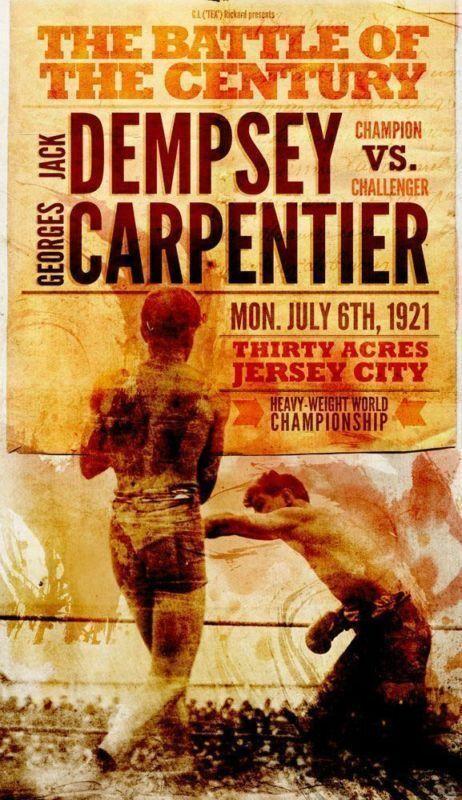 DEPMSEY del CARPENTER 1921 del cártel de estaño de METAL placa de...