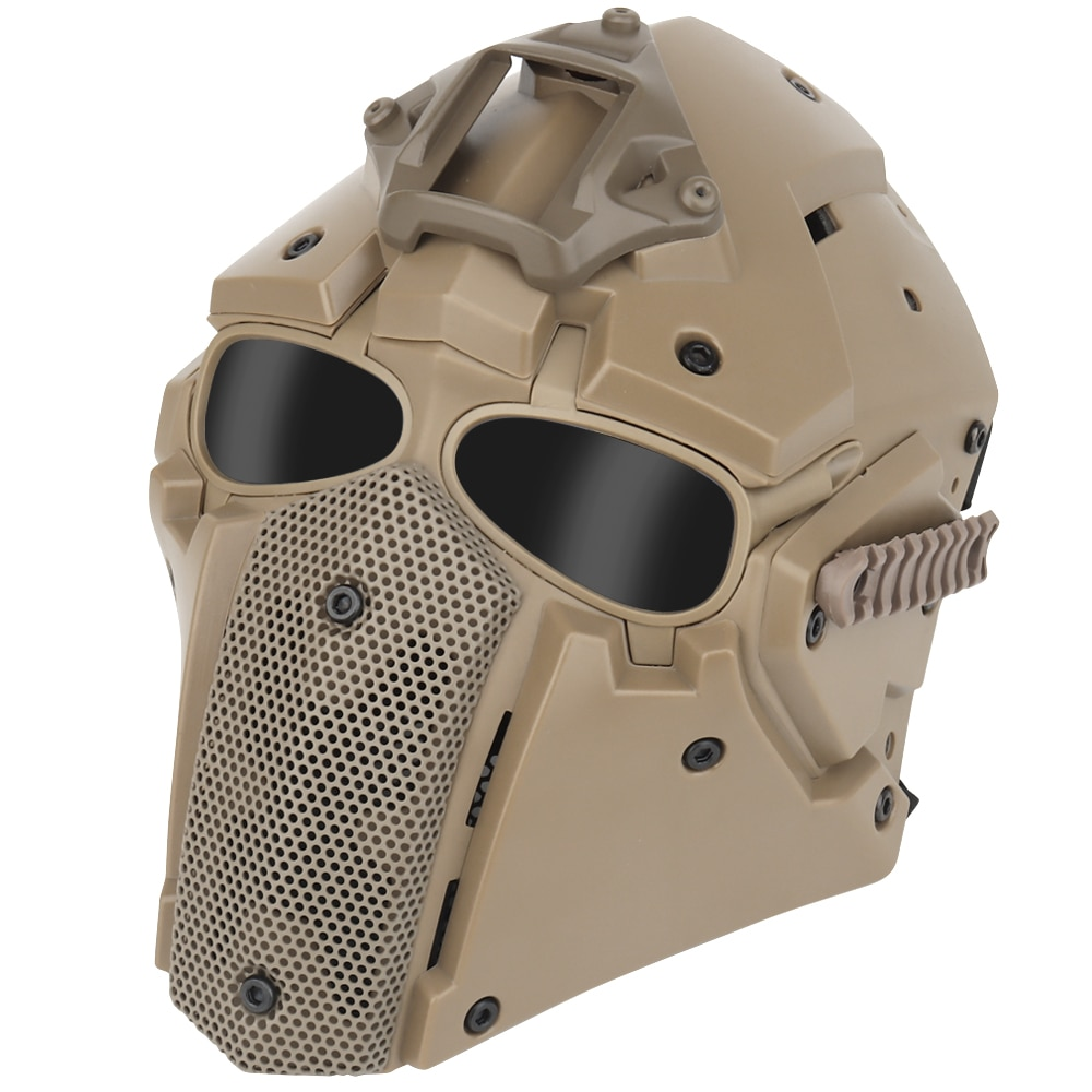NEW Tactical Full Face Mask Shooting Hunting Airsoft Paintball Mask Outdoor Anti-fog Breathable Metal Mesh Protective Mask