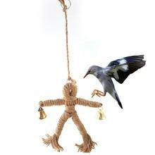 Pet Bird Toys With Bell Parrot Bird Climb Chew Toys Scarecrows Swing Cockatiel Parakeet Parrot Toys Vogel  Vogelspeelgoed