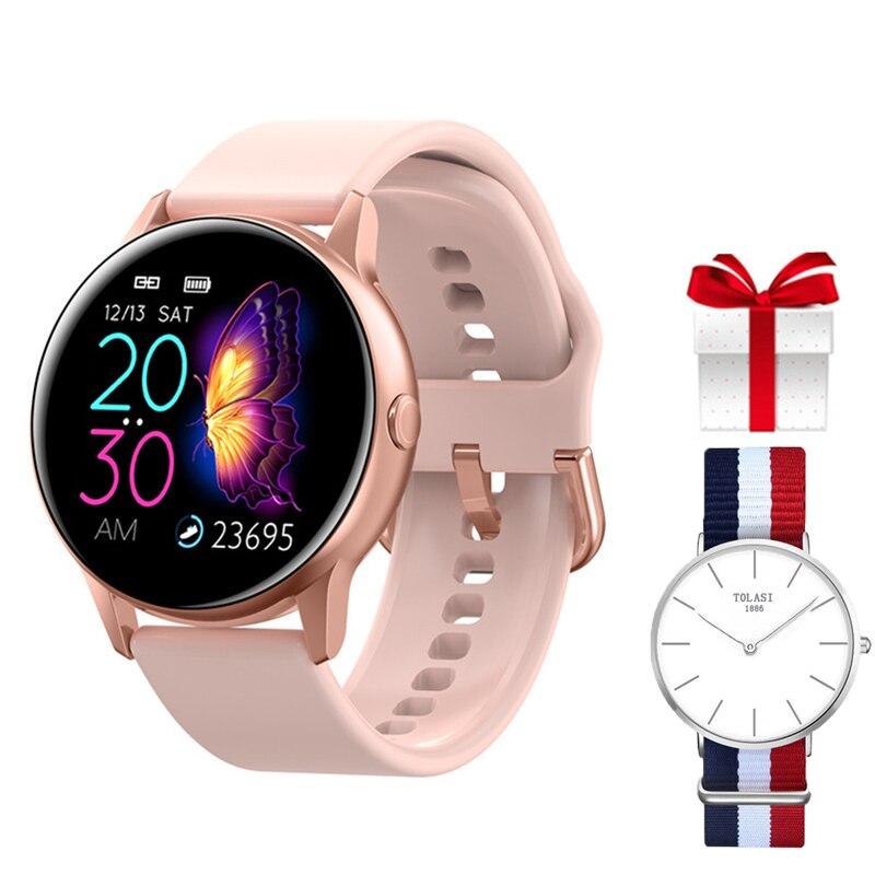 2019 reloj inteligente IP68 resistente al agua Dispositivo portátil inteligente rastreador de Fitness reloj inteligente deportivo hombres mujeres niños para Android IOS