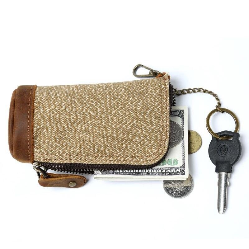 M339 nowe płótno samochodu etui na klucze mężczyźni brelok organizer do kluczy dla gospodarza kobiet brelok pokrowce na zamek etui na klucze Unisex etui