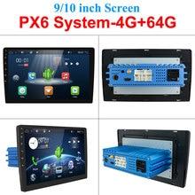 "4g 64g android 10.0 universal 1 din auto multimídia player rádio do carro 2din estéreo 10 ""jogador de carro auto rádio hdmi px6 sistema"