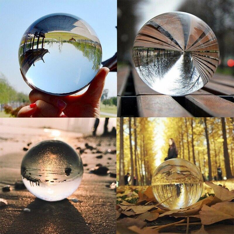 Bola de cristal 30-80mm para fotografia, adereços para fotografia, bola de cristal de vidro transparente para decoração caseira lote de lote