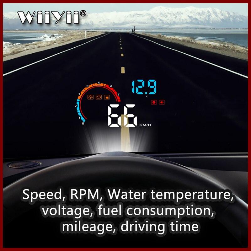 GEYIR HUD pantalla frontal De coche LED parabrisas Proyector OBD2 Escaner Advertencia...