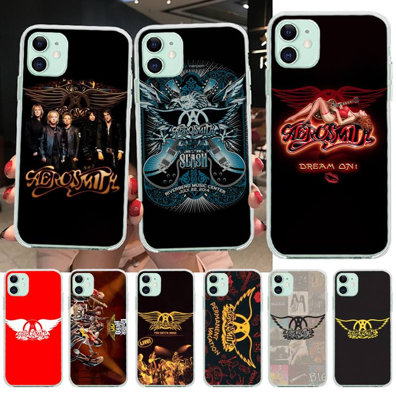 PENGHUWAN rock banda Aerosmith suave de TPU cubierta de la caja del teléfono de silicona para iPhone 11 pro XS MAX 8 7 6 6S Plus X 5S SE XR cubierta