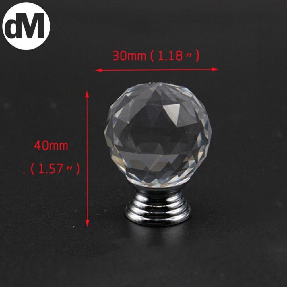 DM-Tirador De Cristal para Cocina, accesorios Con tornos De Vidrio, 30x40mm