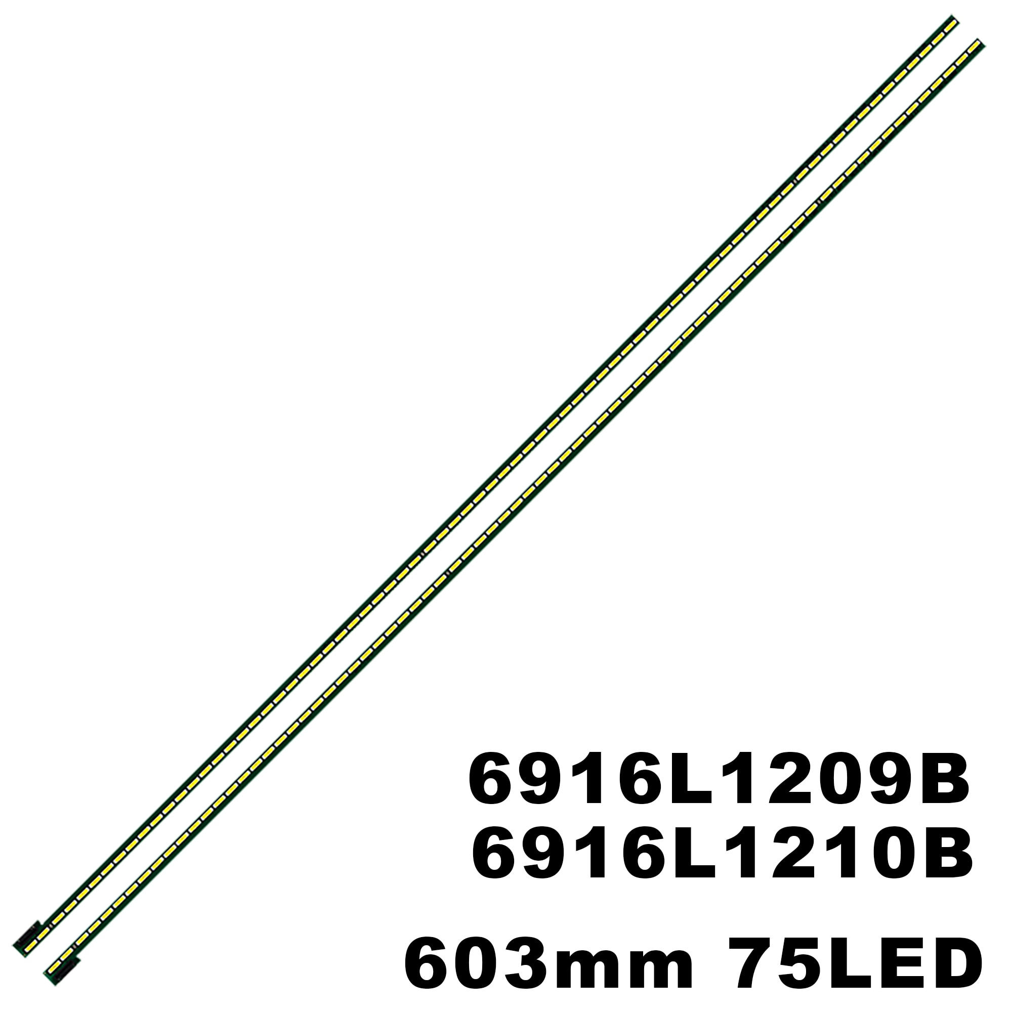 جديد 10 قطعة 75LED 605 مللي متر LED قطاع ل 55PFL6008K 55LA691V 55LA6800 6922L-0069A 55 V13 الفن التلفزيون rl 6920L-0001C