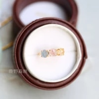 japanese agete style ginza limited natural hair crystal ring gemstone crystal ring s925 sterling silver japanese style retro