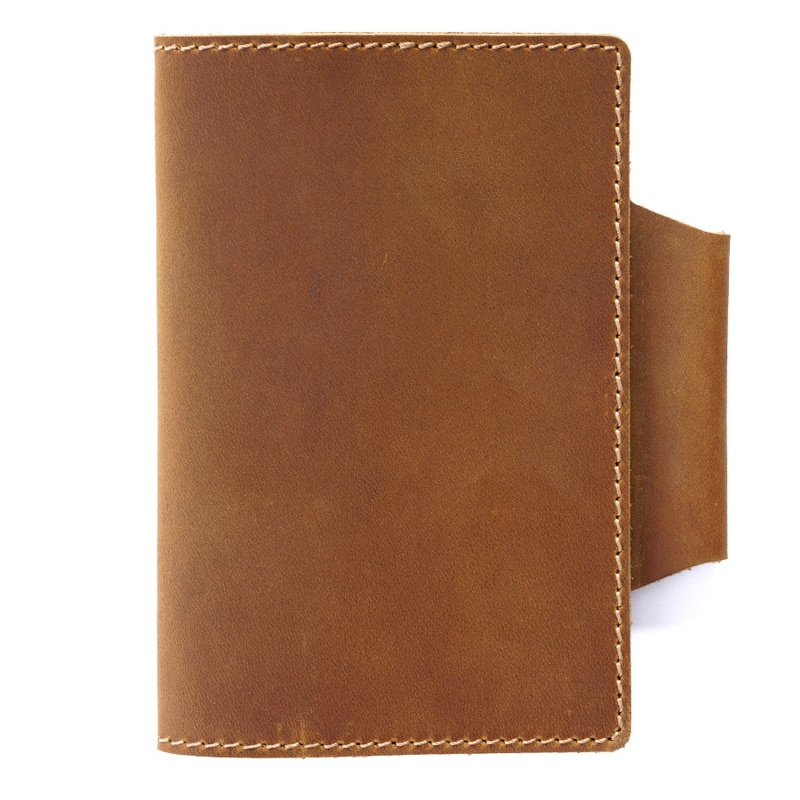 Handmade Real Leather Cover Notebook With Pen Holder 24 Papers Genuine Leather Cowhide Note book Notepad Office School Supplies