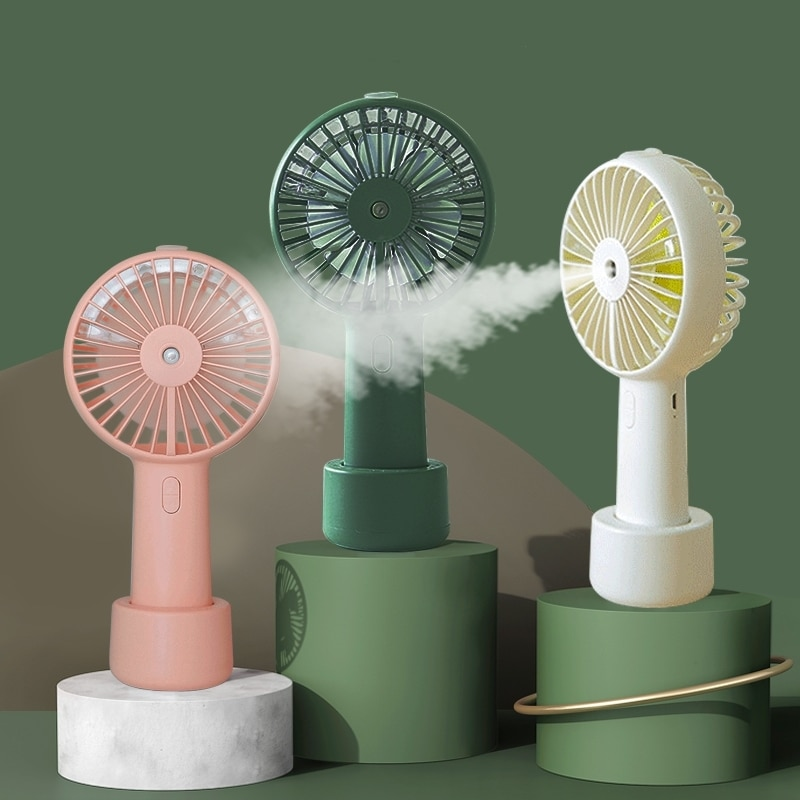 Battery Portable Water Spray Mist Fan Electric USB Rechargeable Handheld Mini Cooling Air Conditioner Humidifier for Outdoor