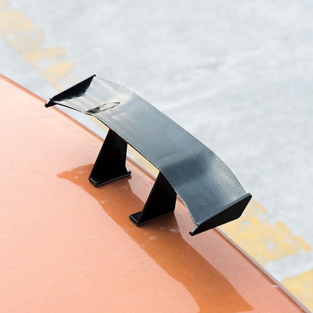 2019 6.7inch Car Tail Wing Carbon Cheap Spoiler Universal  Mini Auto Fiber Decoration ABS / Plastic Material Carbon Fiber
