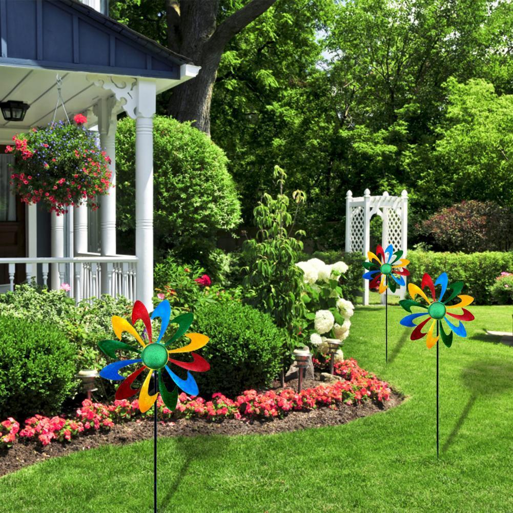 Привлекательный садовый декор, цветной дизайн, стойка для мельницы для сада